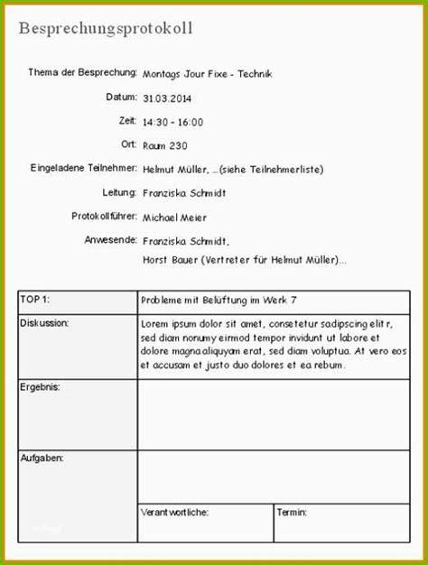protokoll vorlage word muster und vorlage lebenslauf
