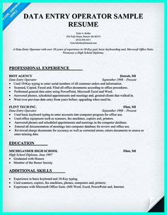 Checkout Operator Resume by Resume Exles Data Entry And Get The On