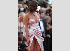 Bella Hadid suffers wardrobe malfunction at Cannes