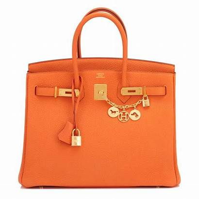 Hermes Birkin Bag Orange Gold Hardware 35cm