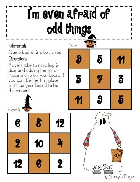 Lory's 2nd Grade Skills Even And Odd Halloween Freebie