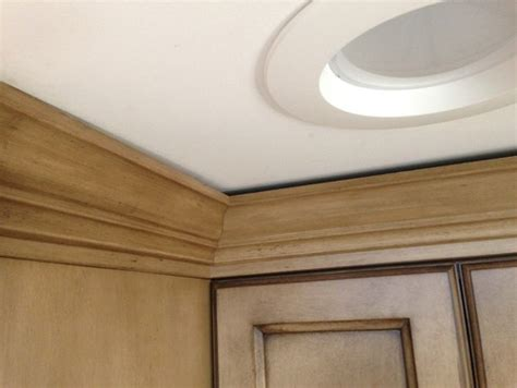 crown moulding ideas for kitchen cabinets how to fix gap between ceiling and kitchen crown molding