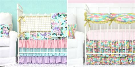 pastel colored bedding bright pastels in the nursery project nursery