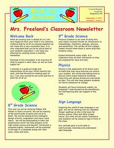 9 best images of sample school newsletter templates free for Primary school newsletter templates