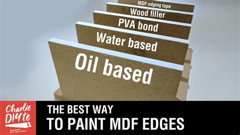 paint  seal mdf edges video  youtube