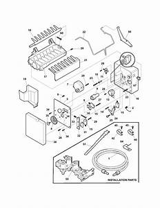 Ice Maker Diagram  U0026 Parts List For Model 25355694403
