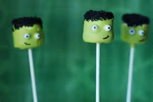 Frankenstein Marshmallow Pops Halloween