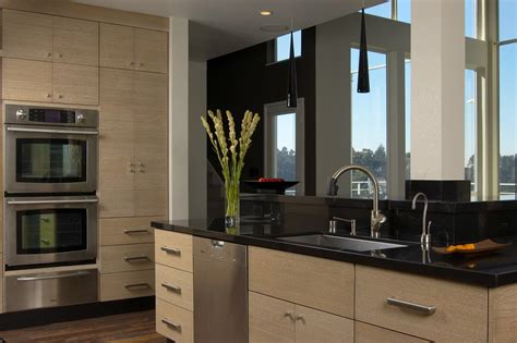 flat panel oak kitchen cabinets flat panel cabinet doors kitchen modern with 1 piece doors