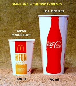 JAPAN McDONALD'S vs USA CINEPLEX --- SMALL SIZE EXTREMES ...
