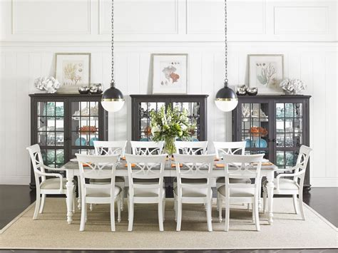 coastal dining room sets coastal living retreat saltbox white rectangular leg
