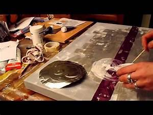 Comment Encadrer Une Toile : comment faire un tableau abstrait peinture acrylique speed painting 1 youtube ~ Voncanada.com Idées de Décoration