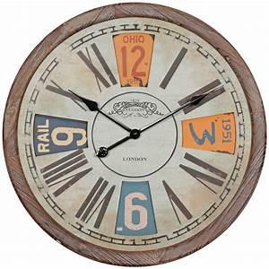 Wanduhr Vintage Metall : wohnling deko vintage wanduhr xxl 60 cm london ~ A.2002-acura-tl-radio.info Haus und Dekorationen