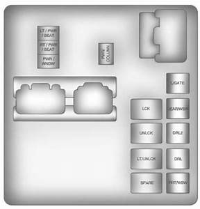 Buick Enclave  2011  U2013 2012   U2013 Fuse Box Diagram
