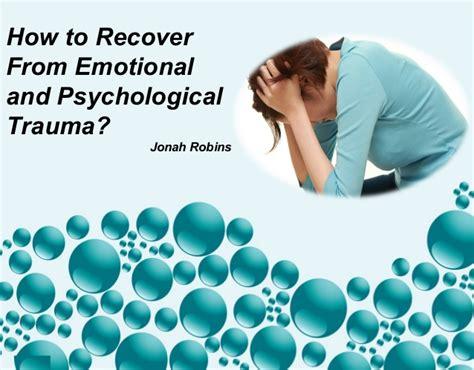 recover  emotional  psychological trauma