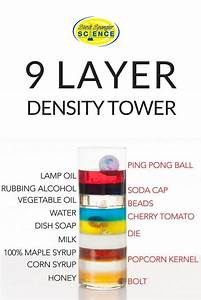 Amazing 9 Layer Density Tower  Density Differences Cause Objects To Float In Liquid U2026