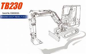Takeuchi Tb230 Mini Excavator Parts Manual  U2013 Service