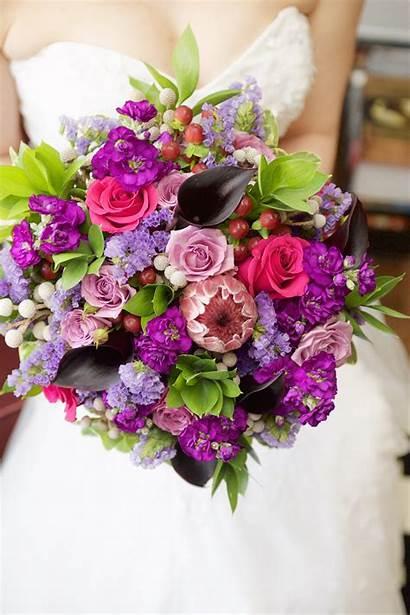 Floral Jewel Toned Bouquet Designs Purple Kim