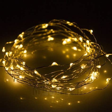 new 50 led 5m copper wire twinkle light warm white string
