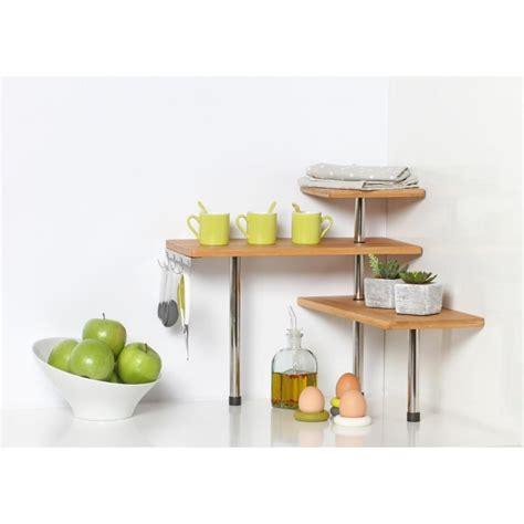 etagere d angle cuisine etagère d 39 angle cuisine quot bambou quot naturel