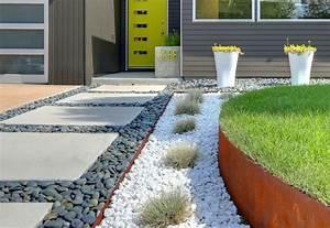 amenagment allee de jardin 45 idees originales With allee de jardin en cailloux
