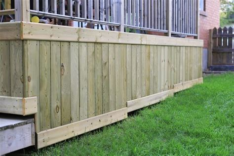 Metal Deck Skirting Ideas by Wonderful Deck Skirting Ideas To Use For Your Home