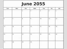 May 2055 Printable Monthly Calendar