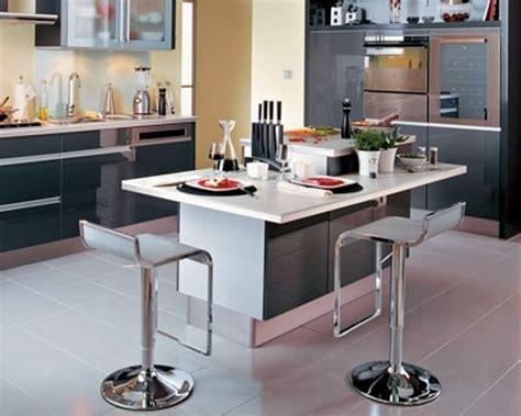 table cuisine blanche ilot table cuisine jpg 100 ides de cuisine avec lot central ou cuisine lot central en palette