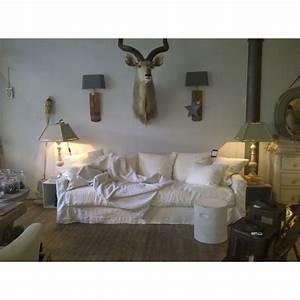 canape en lin biarritz home spirit en vente chez With tapis de marche avec canapé tissu lin