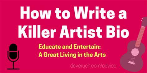 write  killer musician bio  examples