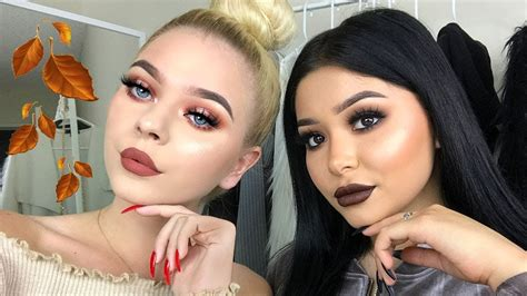 easy fall makeup  ft tina halada daisy marquez youtube