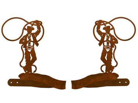 cowboy roping metal curtain tie backs rustic curtain