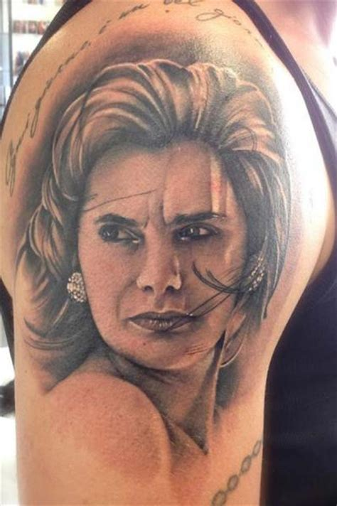 shoulder portrait realistic tattoo  tattoo nero