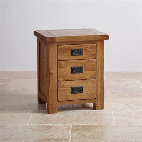original rustic  drawer bedside cabinet oak furniture land