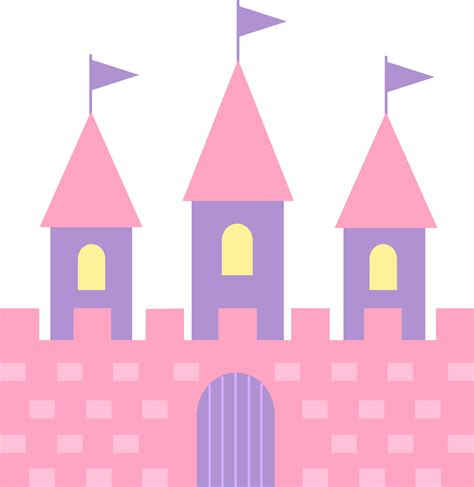 Castle Clipart Pink Princess Castle Free Clip