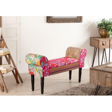 banc de lit banc de lit tissu boh 232 me meubles macabane meubles et objets de d 233 coration