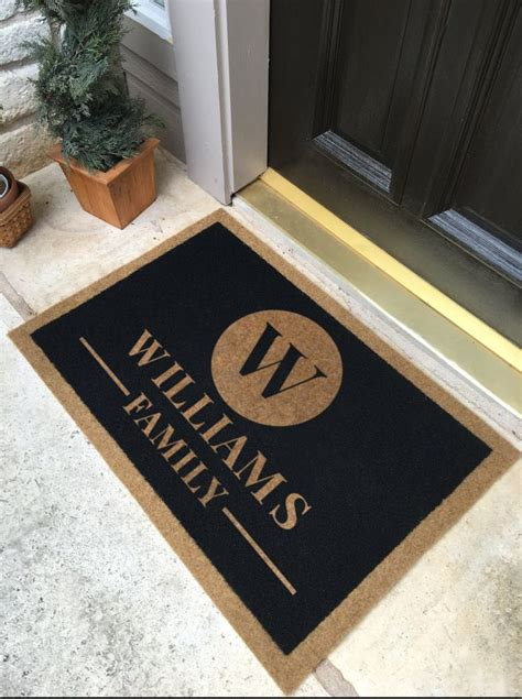 personalized door mat 5499 best awesome decor images on entrance