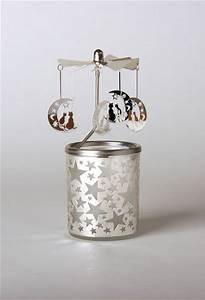 Glas Für Windlicht : glas karussell windlicht halbmond teelicht weihnachtlich dekorieren ~ Markanthonyermac.com Haus und Dekorationen