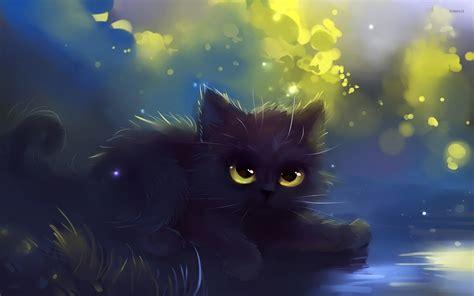 Black Cat Anime Wallpaper - black kitten wallpaper artistic wallpapers 20065