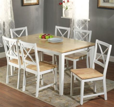 white kitchen set furniture 7 pc white dining set kitchen room table chairs bench wood