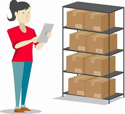 Inventory Management Icon Warehouse Order Control Transparent
