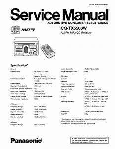 Panasonic Cq Tx5500 Manual