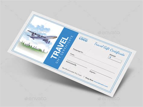 travel gift certificate templates   psd