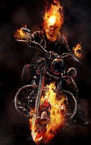 Download Ghost Rider, Motorcycle, Fire 2560x1024 ...