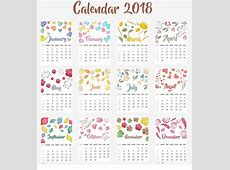 Pretty Calendar yearly printable calendar