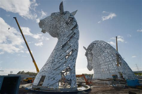 The Kelpies World's Largest Horse Head Sculptures Unveiled