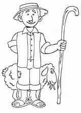 Meslekler Boyama Coloring Pastor sketch template
