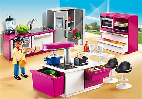 jeux cuisin cuisine avec îlot 5582 playmobil
