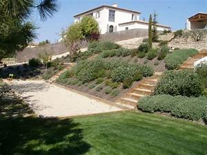 jardin amenagement paysager bute aix puyricard idee With idee amenagement jardin paysager