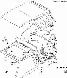 1996 Geo Tracker Fastener  Roof Panel  Fastener  F  Top Cvr
