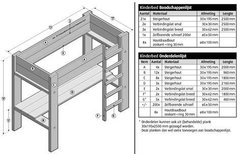 steigerhout bed maken tekening bouwtekening steigerhout bed nodig klik nu hier